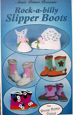 Crochet Rock-a-Billy Slipper Boots  Child & Adult  Annie Potter Patterns