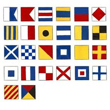 Naval Signal Flags / Flag SET- Set of 26 flag - Marine Code - Total 28 Flags