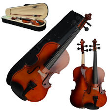 1/4 Solid Wood Natural Color Violin+Case+Bow+Rosin+Shoulder Rest+String+Tuner