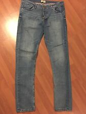 Brave Soul Jeans, Distressed Med Wash Mens Size 34R, Straight Leg Button Fly