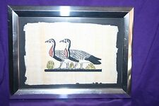 Egyptian Papyrus Paper Hand Painting Duck Framed 6 x 7 3/4""