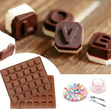 Alphabet Bricks Name Letter Word Chocolate Candy Silicone DIY Baking Mould Cake