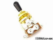 *NEW 3 Position Toggle Switch for Epiphone Les Paul Guitars Gold, Black Tip