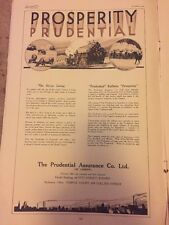 Vintage Advertising 1932 Original Ad Prudential Assurance company