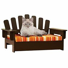 Pet Chair Wooden Cat Sofa Dog Couch Porch Bed Indoor Outdoor Comfort Furniture
