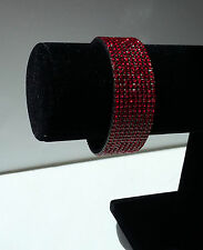 RED Sparkly Crystal Cuff Bracelet - Brand New