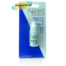 Elegant Touch Quick Drying 4 Seconds Protective Nail Glue CLEAR 3ml