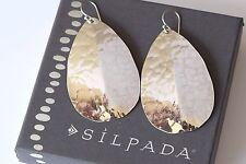 """Silpada Large Hammered Sterling Silver """"Droplet"""" Teardrop Earrings W3003 $74"""