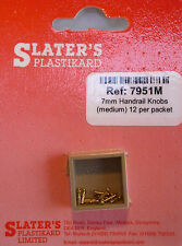 Slaters 7951M - 7mm - 12 x 2.6mm Brass Handrail Knobs New Pack - 1st Class Post
