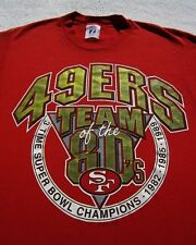 SAN FRANCISCO 49ERS team of 80's SMALL T-SHIRT vintage vtg forty niners