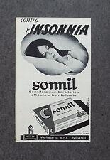 F627 - Advertising Pubblicità - 1970 - SONNIL , CONTRO L'INSONNIA