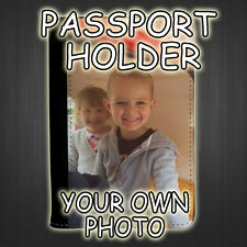 Personalised Passport Cover - Your Own Photo & Text
