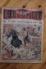 Rarissime L' OEIL DE LA POLICE N° 27 Un double meurtre à coups de sabre
