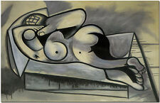 Reclining Nude by Pablo Picasso - Hand Painted Abstract Figurative Oil Painting