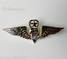 VENEZUELA PARA TROOPER LARGE JUMP WINGS LAPEL PIN 3 INCHES