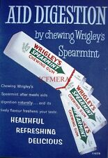 1950/60s WRIGLEY'S 'Spearmint' Chewing Gum Advert #9 - Vintage Print AD