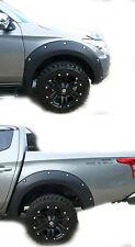 MATT MATTE BLACK OFF-ROAD FENDER FLARES 4 DOORS FOR MITSUBISHI TRITON L200 14 15