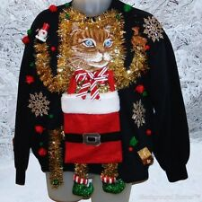 The MOTHER of All UGLY CHRISTMAS CAT Sweaters, Santa Claws, 44