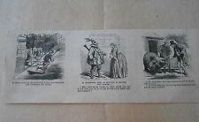 Vignette Caricature 1860 - Le Sapeur  son Hache Robert le Diable Guillaume Tell