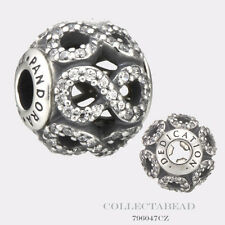 Authentic Pandora Essence Collection Sterling Silver Dedication Bead 796047CZ