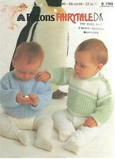 Vintage Patons Knitting Pattern No 7769 Sweaters in DK Sizes 18 - 22 inch