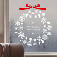 Christmas Tree Snowflakes New Wall Art Decal Wall Sticker Window Home Xmas Decor
