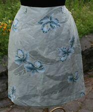 Womens Tommy Bahama Silk Skirt Sz 12 Straight Pale Green Blue Floral