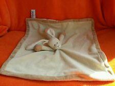 """Teddy kompaniet beige rabbit baby comforter blankie doudou 19"""" doudou"""