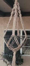 Hippie VTG Style hand Made Macrame plant hanger 40  art design NO beads
