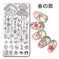 Nail Art Stamp Plate Origami Design 1Pc Manicure Stamp Template Harunouta L040