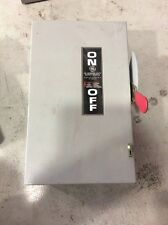 GE General Electric General Duty Safety Switch TGN3322 60 Amp 240 Volt Non Fused