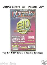 Chartbuster Karaoke Essentials - E10  CD+G 25 DISC 450 SONGS SET