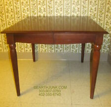 Ethan Allen American Dimensions Square Dining Room Table Sepia Finish