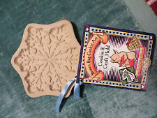 BROWN BAG COOKIE ART SNOWFLAKE MOLD PAPER RARE 2000 PAPER CRAFTS