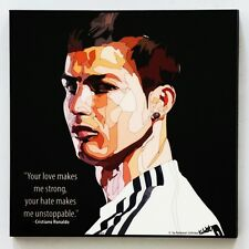 Cristiano Ronaldo canvas quotes wall decals photo painting framed pop art poster