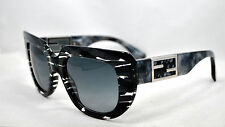 LIMITED EDITION! NEW FENDI FF 0031/S  7YRHD  Black Grey / Grey Shaded SUNGLASSES
