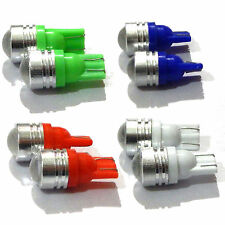 LED Projector Lens Parking Lights Combo, White, Red, Green & Blue Color T10 Bulb