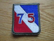 """US Army Infantry  75th division Fully embriordered FE patch """" Make Ready"""" OD"""