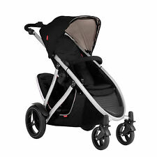 Phil & Teds 2014 New Verve V3 Stroller & Double Kit Black Includes Double Seat