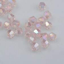 100pcs pink ab exquisite Glass Crystal 4mm #5301 Bicone Beads loose beads