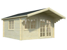 "BZB Log Cabin Kit, Pool or Garden House, 12'3""x12'3"",150 Sq.Ft. FREE SHIPPING"