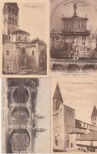 Lot 4 cartes postales anciennes TOURNUS église saint-philibert