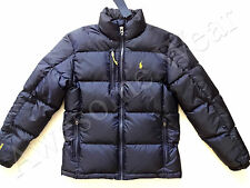 New Ralph Lauren Polo Classic Navy Blue Winter Puffer Down Jacket size L