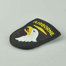 3D PVC Tactical Velcro Patch Airborne Eagle Shield Rubber Military Morale Badge