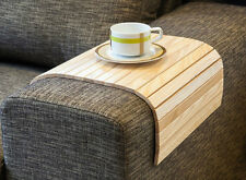 SOFA TRAY TABLE NATURAL, Wood Coffee Table, Armrest Table, Cover for Couch