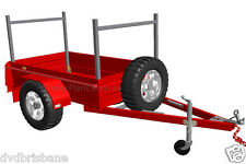 TRAILER PLANS - BOX TRAILER PLANS - 3 sizes - 6x4, 7x4, 7x5ft