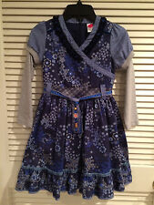 Cakewalk Girls Blue Floral Dress Size USA 8