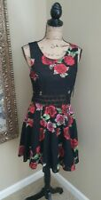 NWT Free People Black and Rose Pattern maxi Dress seen on Elena Gilbert size 10