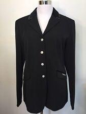 Cavallo Grann.Sport Black Women's 16L Dressage Show Coat Velvet/Crystal Collar