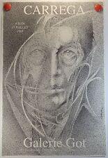 AFFICHE 1993 le peintre CARREGA expose Galerie Got à Marseille /18PB